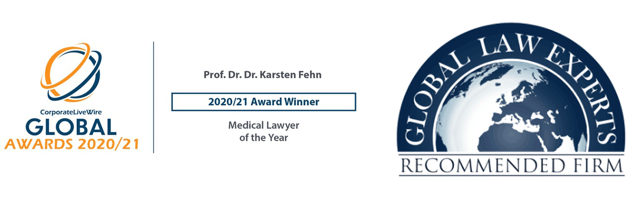 Fehn || Legal Gewinnerlogo Auszeichnung-corporatelivewire-global-awards-2020-21-prof.dr.dr.karsten-fehn-2020-21-award-winner-medical_lawyer-of_the_year_global-law-experts-medical-law-recommended-attorney