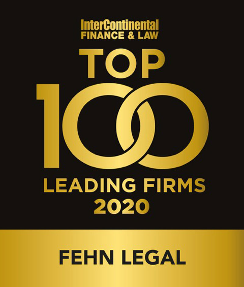 logo InterContinental FINANCE & LAW TOP 10 LEADING FIRMS 2020 FEHN LEGAL